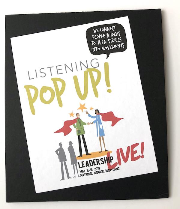 Leadership Live meeting Popup wall Meeting