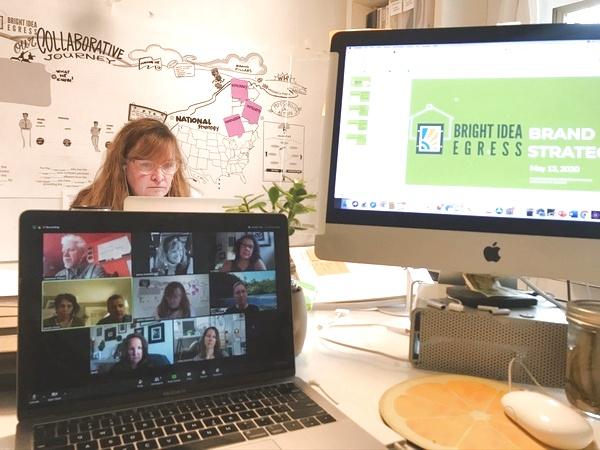 Sensemaking in Virtural Meetings Digital with team members